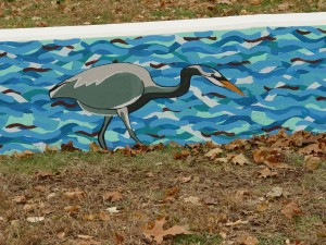 Great Blue Heron Mural